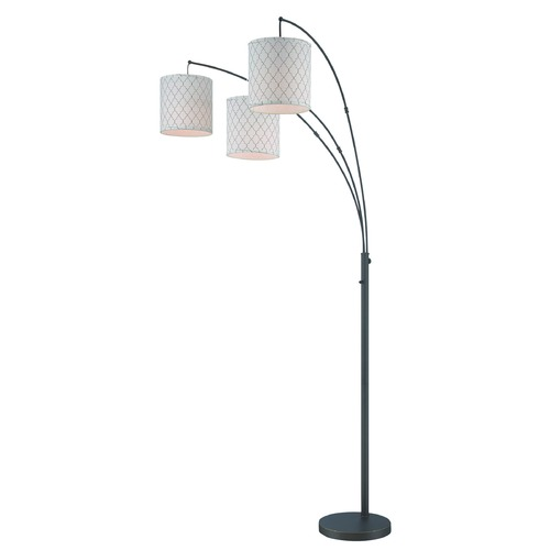 Lite Source Lighting Lite Source Vasanti Dark Bronze Arc Lamp with Cylindrical Shade LS-82533