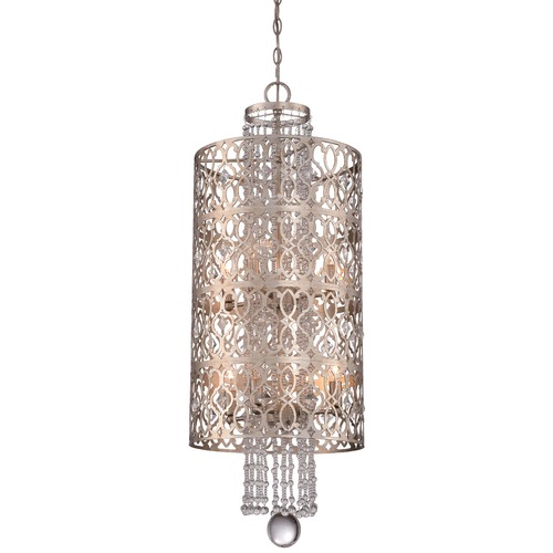 Minka Lavery Minka Lucero Florentine Silver Pendant Light with Cylindrical Shade 4845-276