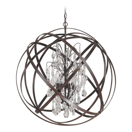 Capital Lighting Capital Lighting Axis Russet Pendant Light 4236RS-CR