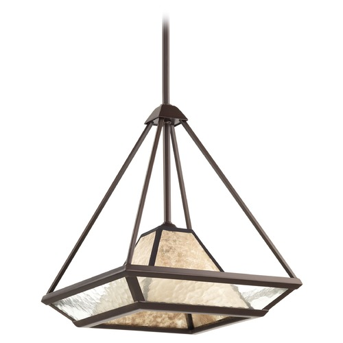 Progress Lighting Progress Lighting Collins Antique Bronze Pendant Light with Square Shade P5102-20