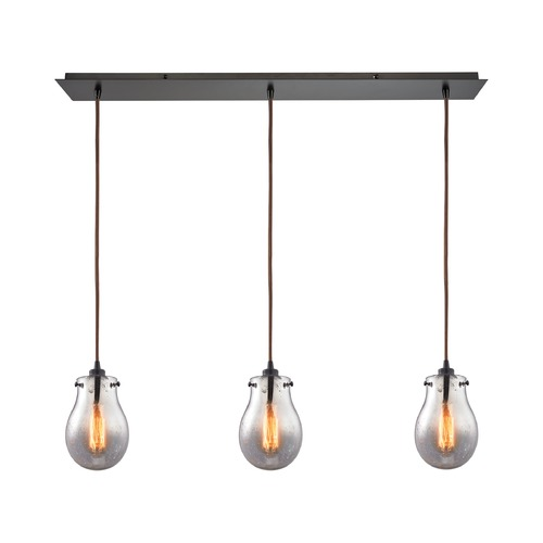 Elk Lighting Elk Lighting Jaelyn Oil Rubbed Bronze Multi-Light Pendant with Bowl / Dome Shade 31935/3LP