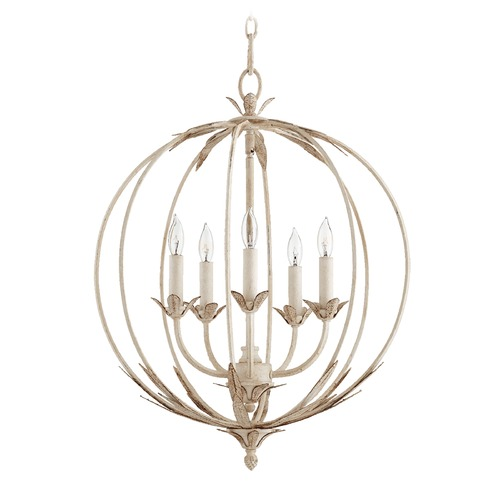 Quorum Lighting Quorum Lighting Flora Persian White Pendant Light 6372-5-70
