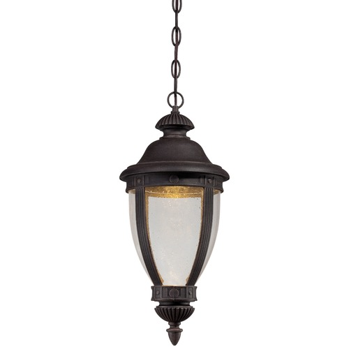 Minka Lavery Seeded Glass LED Outdoor Hanging Light Bronze Minka Lavery 72414-51A-L