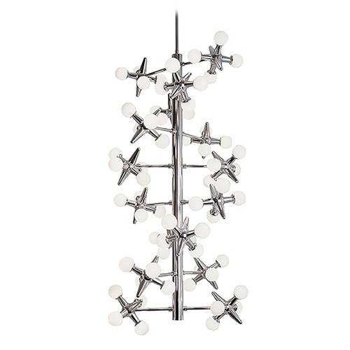 Kuzco Lighting Modern Chrome LED Chandelier with White Opal Shade 3000K 5880LM CH51020-CH