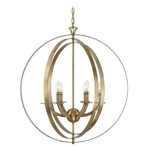 Savoy House Savoy House Dumont Warm Brass 6-Light Pendant 7-204-6-322