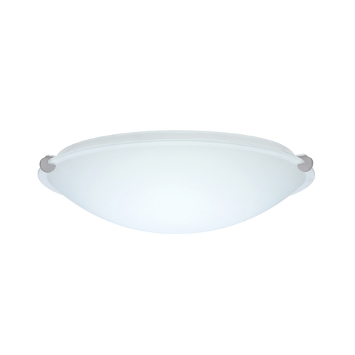Besa Lighting Flushmount Light with White Glass in Satin Nickel Finish 968007-SN