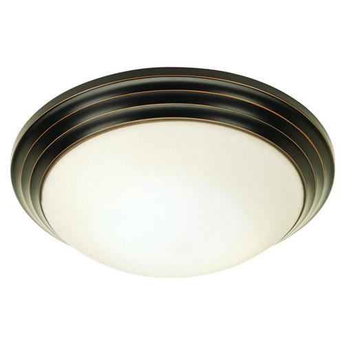 Access Lighting Modern Flushmount Light with White Glass in Oil Rubbed Bronze Finish 20650-ORB/OPL