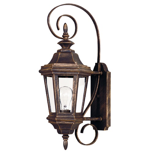 Kenroy Home Lighting Outdoor Wall Light with Clear Glass in Antique Patina Finish 16312AP