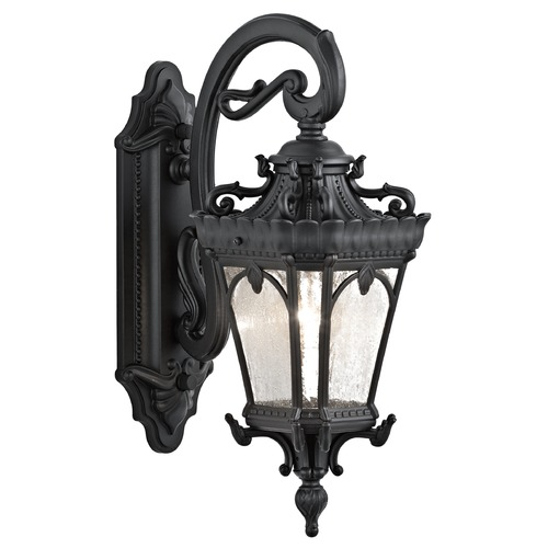 Kichler Lighting Kichler Outdoor Wall Light with Clear Glass in Textured Black Finish 9356BKT