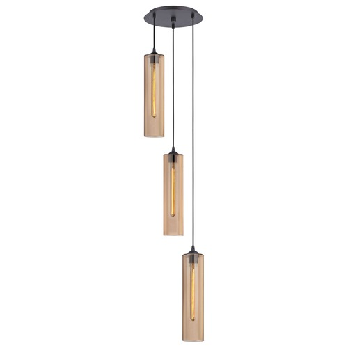 Design Classics Lighting Bronze Multi-Light Pendant with Cylindrical Shade 583-220 GL1650C