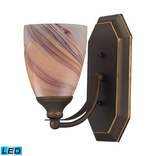 Elk Lighting Elk Lighting Bath and Spa Aged Bronze LED Sconce 570-1B-CR-LED