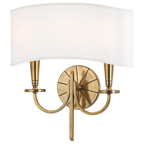 Hudson Valley Lighting Mason 2 Light Sconce - Aged Brass 8022-AGB