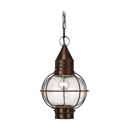Hinkley Lighting LED Outdoor Hanging Light with Clear Glass in Sienna Bronze Finish 2202SZ-LED