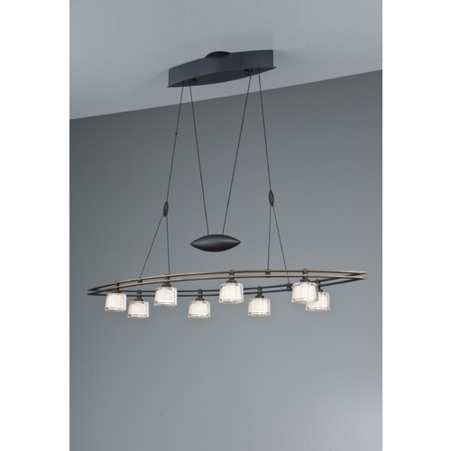 Holtkoetter Lighting Holtkoetter Modern Low Voltage Drum Pendant Light with White Glass in Hand-Brushed Old Bronze Finish 5508 HBOB G5010
