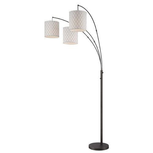 Lite Source Lighting Lite Source Vasanti Dark Bronze Arc Lamp with Cylindrical Shade LSF-82533