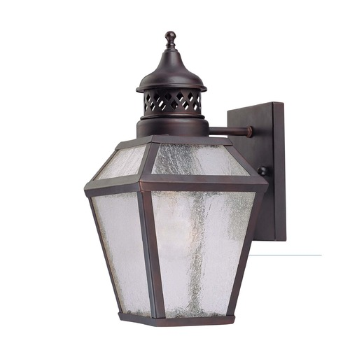 Savoy House Pale Cream Seeded Glass Outdoor Wall Light Bronze Savoy House 5-772-13