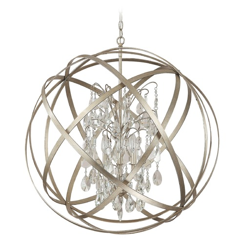 Capital Lighting Capital Lighting Axis Winter Gold Pendant Light 4236WG-CR