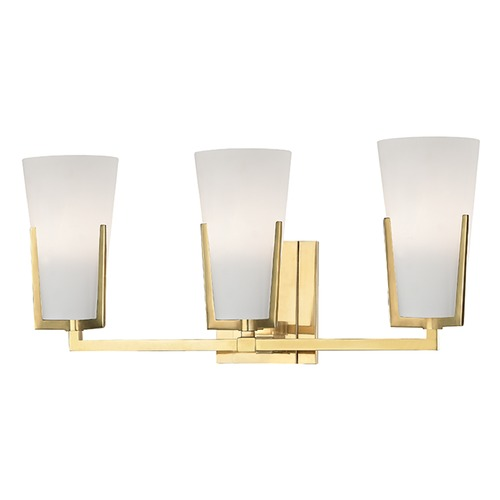 Hudson Valley Lighting Upton 3 Light Bathroom Light - Aged Brass 1803-AGB