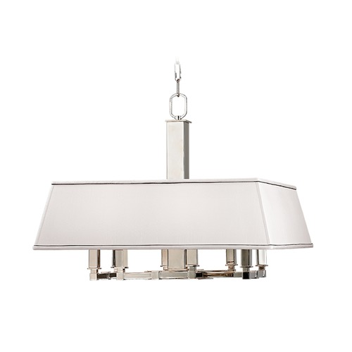 Hudson Valley Lighting Hudson Valley Lighting Kingston Polished Nickel Island Light with Square Shade 7024-PN