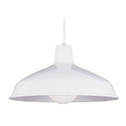 Sea Gull Lighting Sea Gull White LED RLM Pendant Light 651991S-15