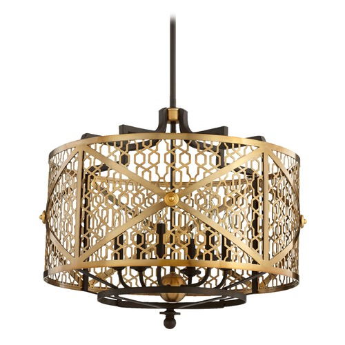 Quorum Lighting Quorum Lighting Renzo Aged Brass W/ Oiled Bronze Pendant Light 640-6-80