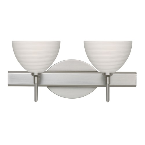 Besa Lighting Besa Lighting Brella Satin Nickel LED Bathroom Light 2SW-4679KR-LED-SN