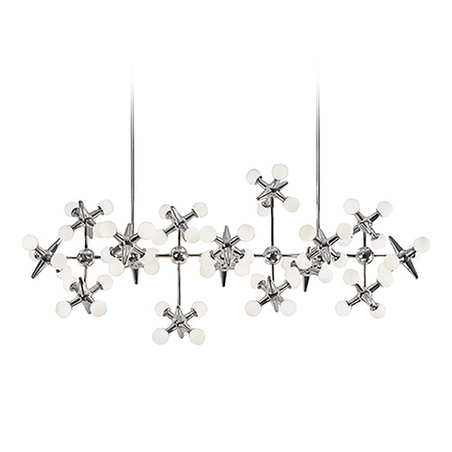 Kuzco Lighting Modern Chrome LED Chandelier with White Opal Shade 3000K 8000LM CH51049-CH