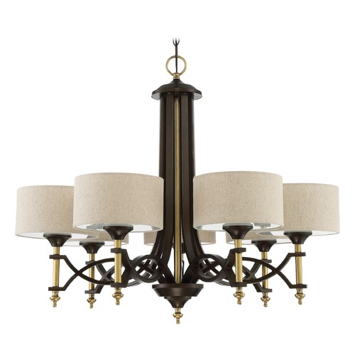Craftmade Lighting Craftmade Lighting Colonial Antique Gold/bronze Chandelier 46327-ANGBZ