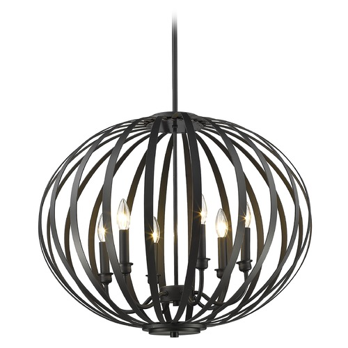 Z-Lite Z-Lite Moundou Bronze Pendant Light with Globe Shade 438-24BRZ