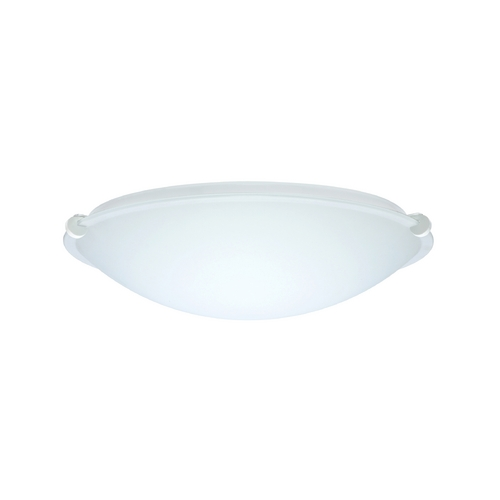 Besa Lighting Flushmount Light with White Glass in White Finish 968007-WH