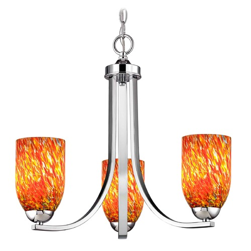 Design Classics Lighting Design Classics Dalton Fuse Chrome Mini-Chandelier 5843-26 GL1012D