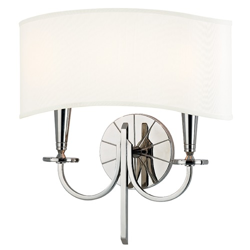 Hudson Valley Lighting Mason 2 Light Sconce - Polished Nickel 8022-PN
