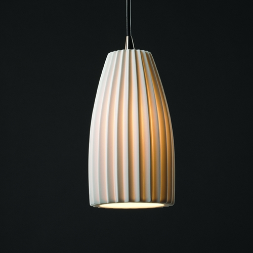 Justice Design Group Justice Design Group Limoges Collection Mini-Pendant Light POR-8816-28-PLET-NCKL