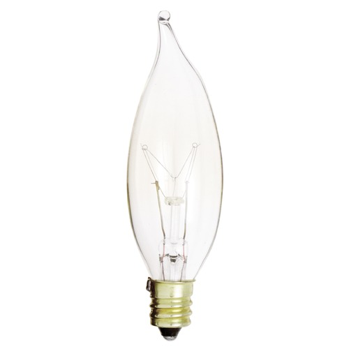 Satco Lighting Incandescent CA8 Light Bulb Candelabra Base 120V by Satco S3273