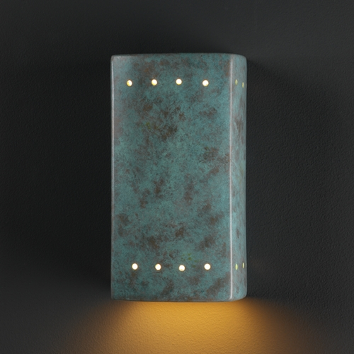 Justice Design Group Sconce Wall Light in Verde Patina Finish CER-5920-PATV