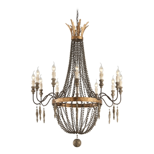 Troy Lighting Chandelier in French Bronze Finish F3537