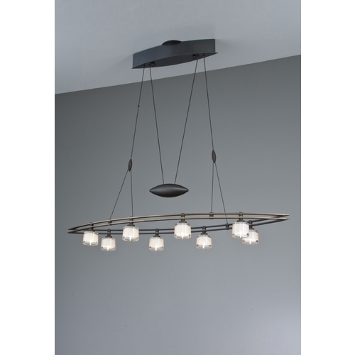 Holtkoetter Lighting Holtkoetter Modern Low Voltage Drum Pendant Light with White Glass in Hand-Brushed Old Bronze Finish 5508 HBOB G5011
