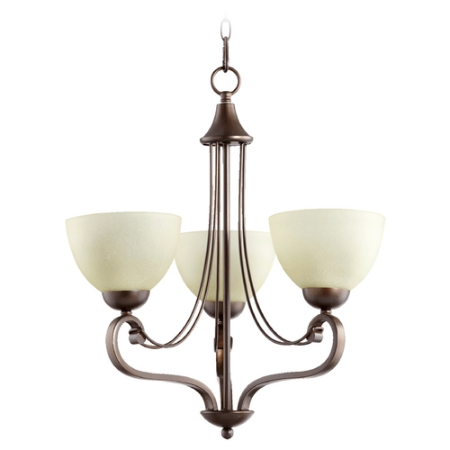 Quorum Lighting Quorum Lighting Lariat Oiled Bronze Mini-Chandelier 6031-3-86