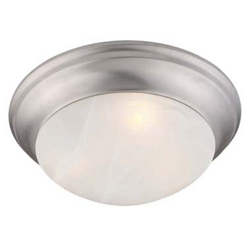 Livex Lighting Livex Lighting Omega Brushed Nickel Flushmount Light 7302-91