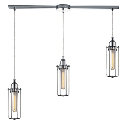 Elk Lighting Elk Lighting Fulton Polished Chrome Multi-Light Pendant 66317/3L