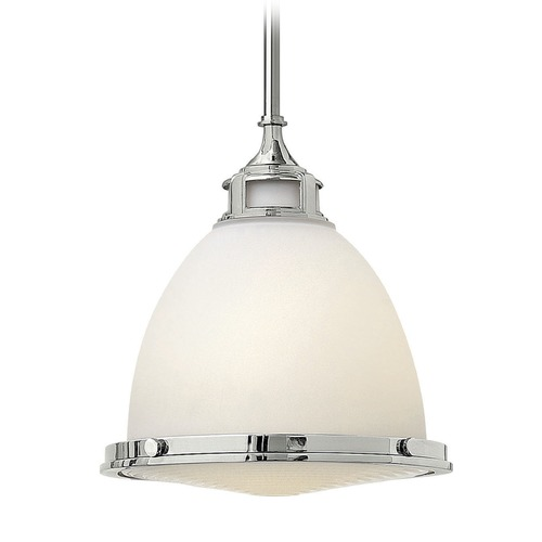 Hinkley Lighting Hinkley Lighting Amelia Chrome LED Mini-Pendant Light with Bowl / Dome Shade 3124CM-LED