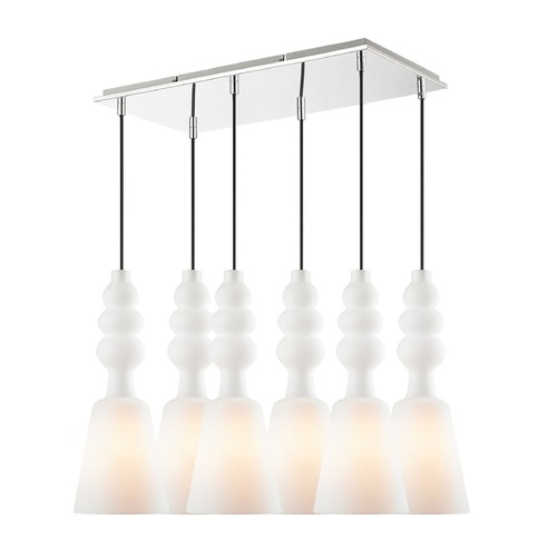 Golden Lighting Golden Lighting Sil Chrome Multi-Light Pendant with Conical Shade C160-06-CH