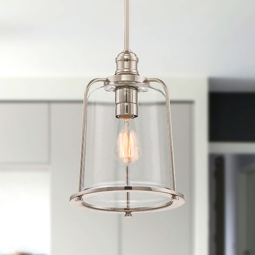 Quoizel Lighting Quoizel Lighting Quoizel Piccolo Pendant Imperial Silver Mini-Pendant Light with Cylindrical Shade QPP2051IS