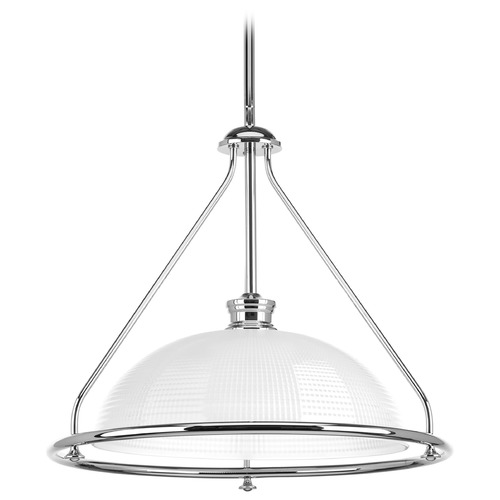 Progress Lighting Progress Lighting Lucky Polished Chrome Pendant Light with Bowl / Dome Shade P5119-15