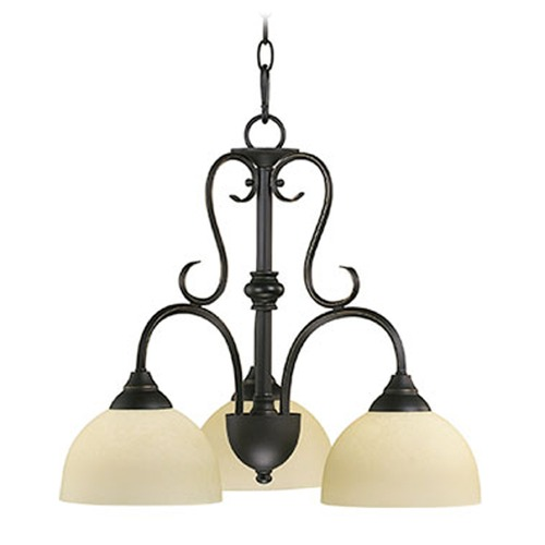 Quorum Lighting Quorum Lighting Powell Oiled Bronze Chandelier 6408-3-86