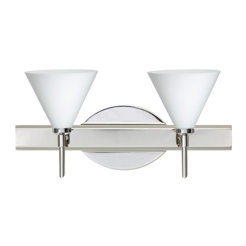 Besa Lighting Besa Lighting Kani Chrome LED Bathroom Light 2SW-512107-LED-CR