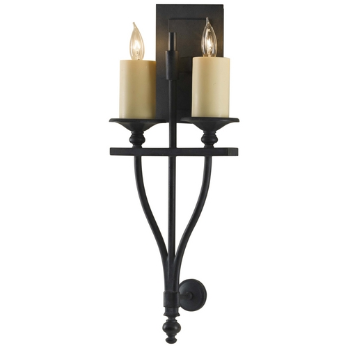 Feiss Lighting Sconce Wall Light in Antique Forged Iron Finish WB1469AF