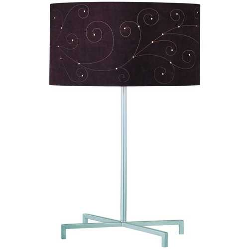 Lite Source Lighting Lite Source Lighting Hemsk Silver Table Lamp with Cylindrical Shade LS-21362