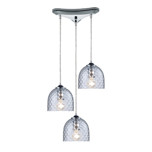 Elk Lighting Multi-Light Pendant Light with Clear Glass and 3-Lights 31080/3CLR