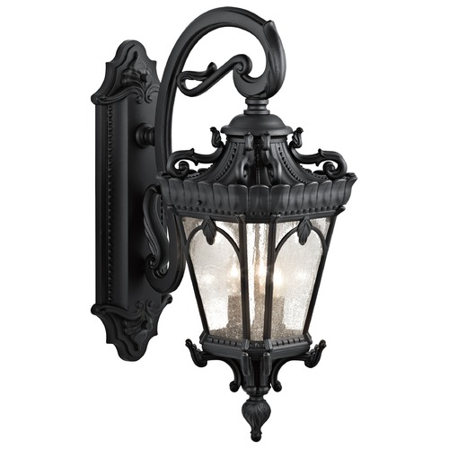 Kichler Lighting Kichler Outdoor Wall Light with Clear Glass in Textured Black Finish 9358BKT